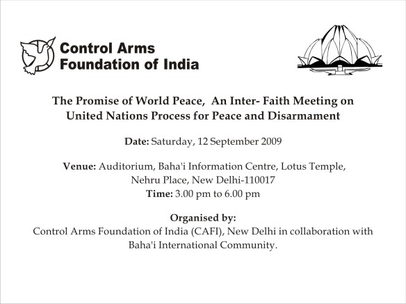 India Inter-faith meeting on ATT Page 1