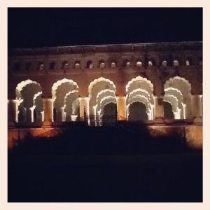 The light and sound show at Orchha.