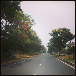 The beautiful Jharkhand roads.