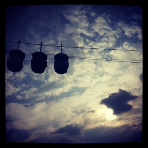 The cable cars at Science City, Calcutta