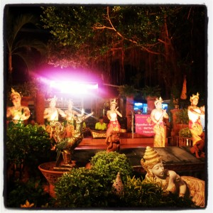 A traditional Thai dance performance as we ate dinner.
