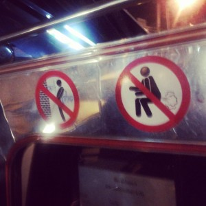 Don't pee or fart in a Baht bus!