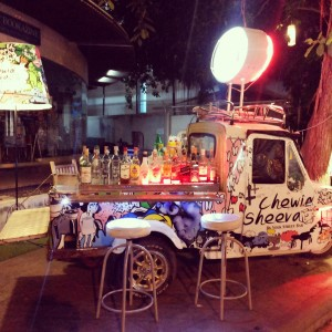 A very funky mobile bar. And peace prevails around it. I can imagine what the Right would do if we set these up in India!